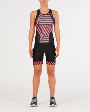 2XU Perform Y-back trisuit zwart/rood dames