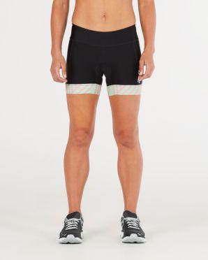 "2XU Perform 4.5"" tri shorts zwart/mint dames"
