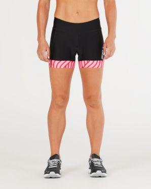 "2XU Perform 4.5"" tri shorts zwart/roze dames"