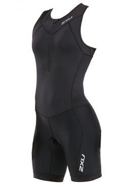 2XU Active mouwloos trisuit zwart dames WT5546D