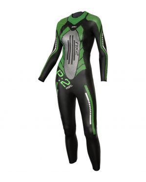 2XU P:2 Propel lange mouw wetsuit zwart/groen dames