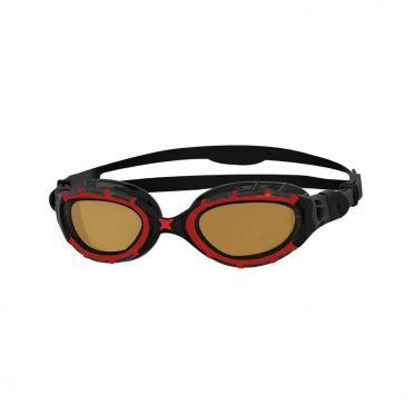 Zoggs Predator polarized ultra zwembril rood/zwart
