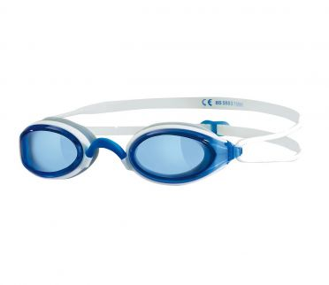 Zoggs Fusion air blauwe lens zwembril blauw/wit