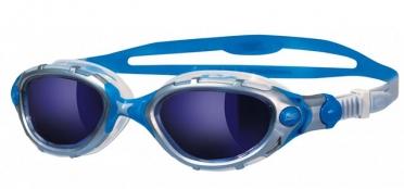 Zoggs Predator Flex zwembril blauw zilver - spiegellens
