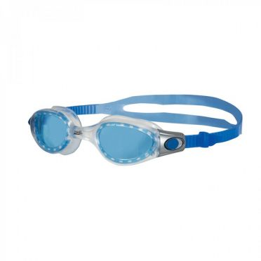 Zoggs Phantom Elite zwembril grijs/blauw - blauwe lens
