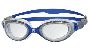 Zoggs Predator flex 2.0 zwembril zilver/blauw