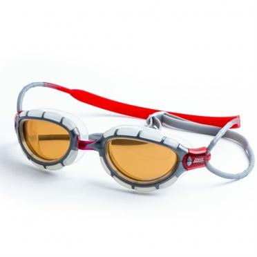 Zoggs Predator Polarized Ultra zwembril grijs/rood