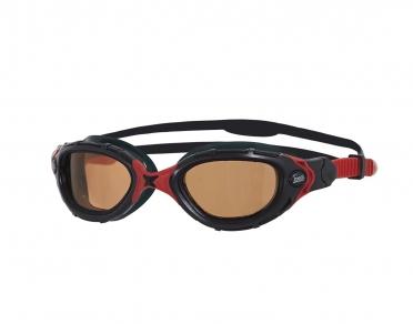 Zoggs Predator flex Polarized zwembril zwart/rood