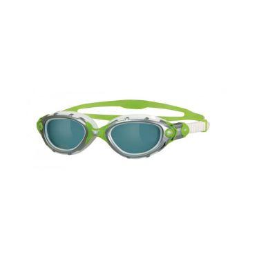 Zoggs Predator Flex zwembril wit zilver groen donkere lens