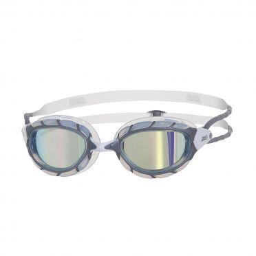 Zoggs Predator zwembril grijs/wit - spiegellens