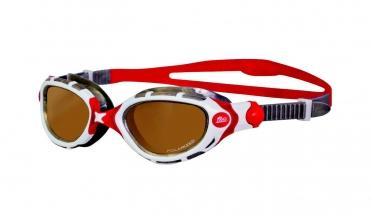 Zoggs Predator Polarized zwembril wit/rood