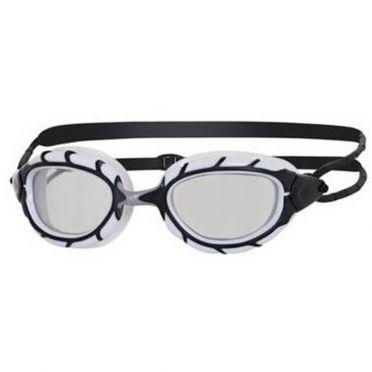 Zoggs Predator zwembril wit/zwart - donkere lens