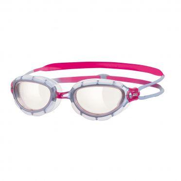 Zoggs Predator women transparante lens zwembril zilver/roze
