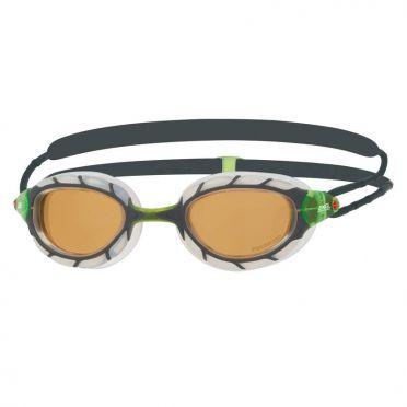 Zoggs Predator polarized ultra zwembril groen/wit