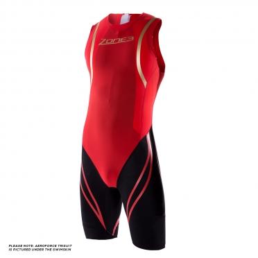 Zone3 Swim Skin rood/zwart heren