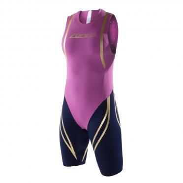 Zone3 Swim Skin paars/zwart dames