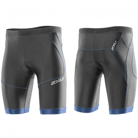 "2XU Perform tri short 9"" heren zwart-blauw 2015 MT2704b  MT2704b"