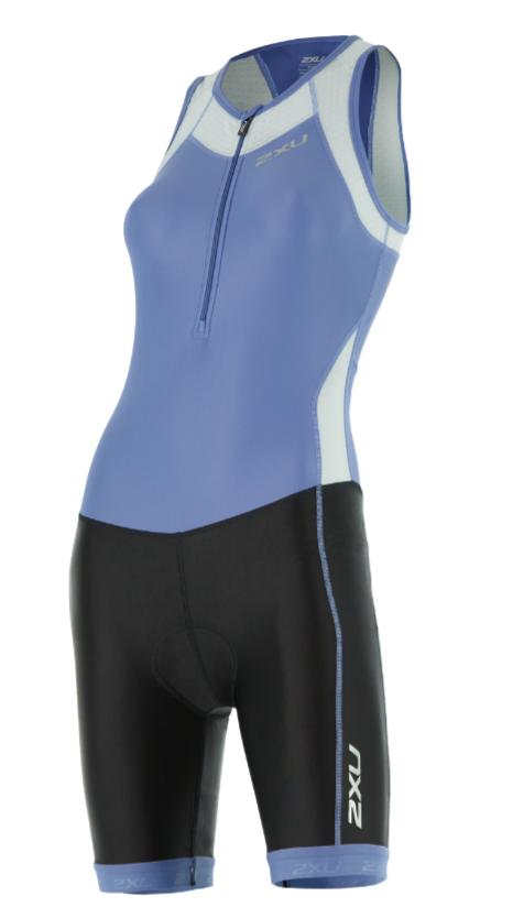 2XU X-vent Y-back Trisuit zwart/blauw dames  WT4366dCBU/BLK