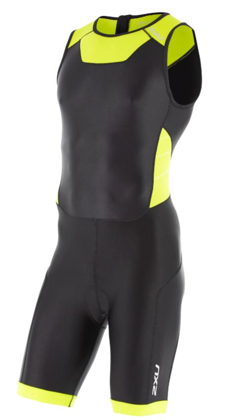 2XU Trisuit X-vent Rear Zip zwart/geel heren  MT4356dBLK/LPU
