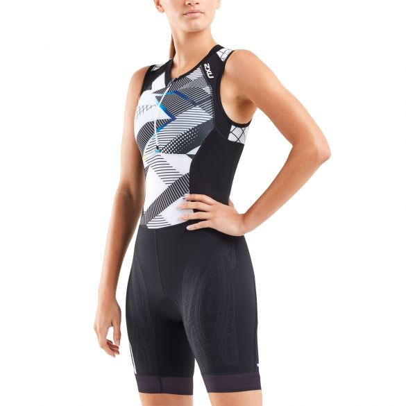 2XU Compression mouwloos trisuit zwart/wit dames  WT5522D-BLK/CRO