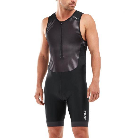 2XU Perform mouwloos trisuit zwart heren  MT5526d-BLK/SDW