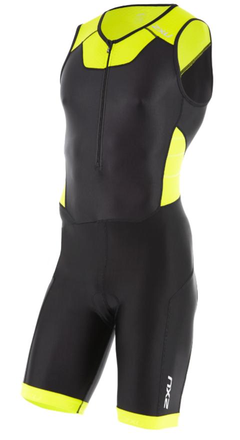 2XU Trisuit X-vent front zip zwart/geel heren  MT4354dBLK/LPU