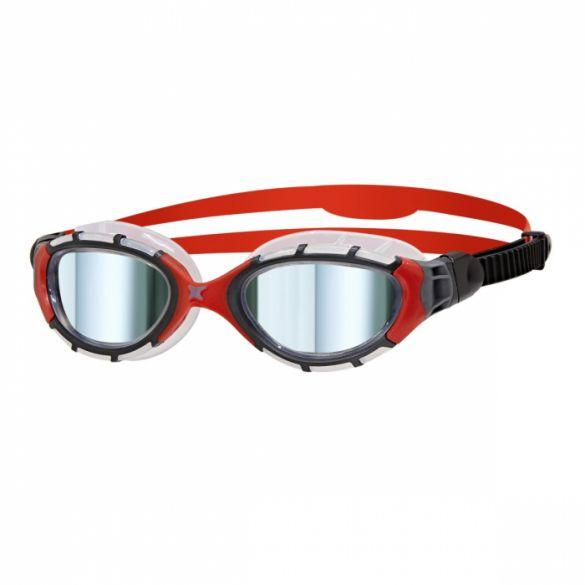 Zoggs Predator flex titanium zwembril rood/zwart  310843