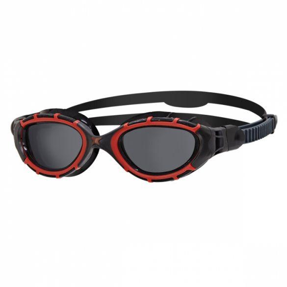 Zoggs Predator flex polarized zwembril zwart/rood  338847