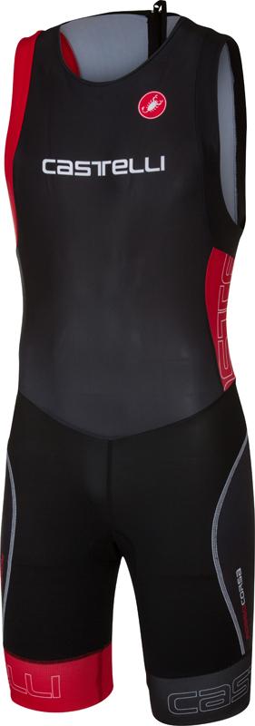 Castelli Short distance tri suit mouwloos zwart/rood heren  17097-231