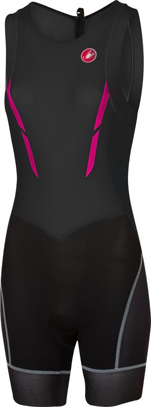 Castelli Short distance W tri suit mouwloos zwart/roze dames  17100-010