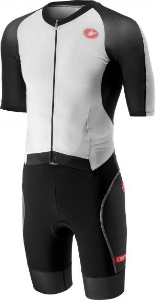 Castelli All out speed trisuit korte mouw wit/zwart heren  18104-101