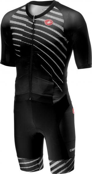 Castelli All out speed trisuit korte mouw zwart/zwart heren  18104-110