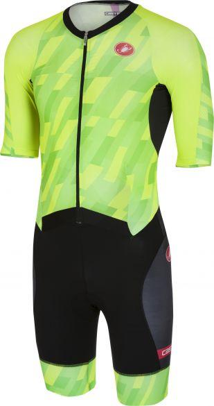 Castelli All out speed trisuit korte mouw pro groen/zwart heren  18104-084
