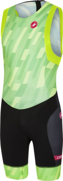 Castelli Free tri ITU suit rits achterzijde mouwloos pro groen/zwart heren  18110-084
