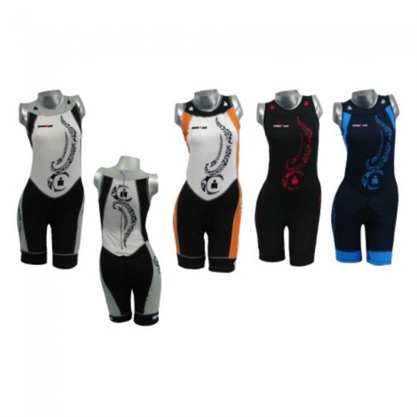 Ironman women's tri suit sleeveless back zip tattoo 8917  IM8917