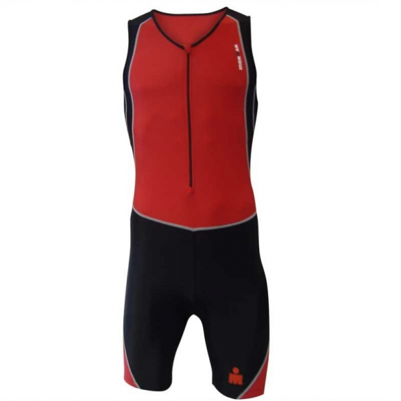 Ironman men's trisuit Sleeveless red-black  IMVO2TRISUITSLE