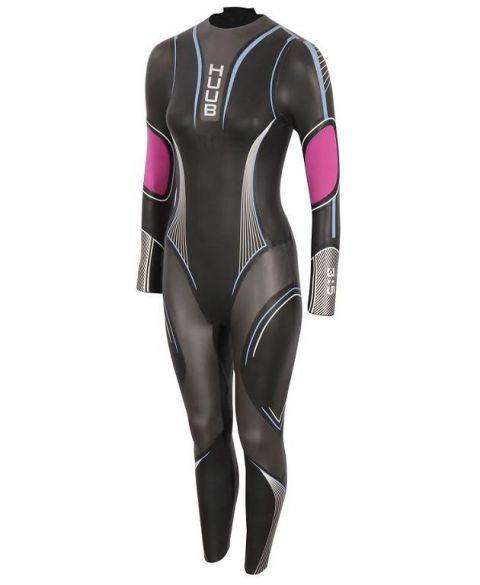 Huub Acara 3:3 wetsuit zwart/roze dames  ACR33