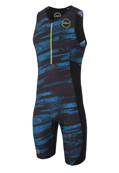 Zone3 Activate plus mouwloos trisuit Stealth speed heren  TS18MACPP104