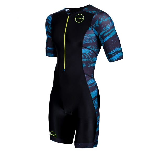 Zone3 Activate plus korte mouw trisuit Stealth speed heren  TS19MACPP106