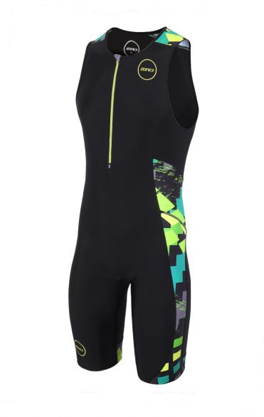 Zone3 Activate plus mouwloos trisuit Electric sprint heren  TS18MACP106