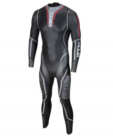Huub Aerious II 3:5 wetsuit zwart heren  AER355