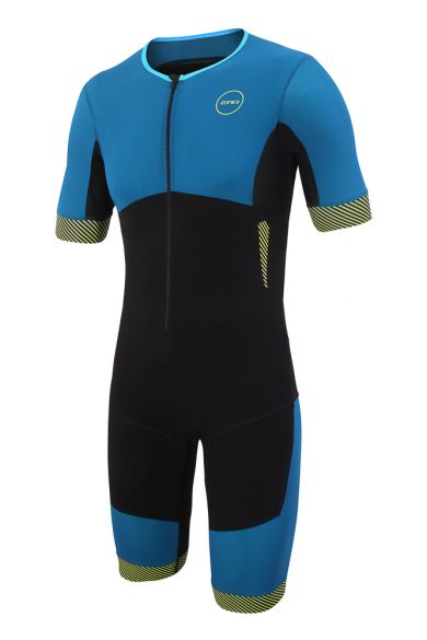 Zone3 Aeroforce korte mouw trisuit blauw/zwart heren  TS18MAFS101