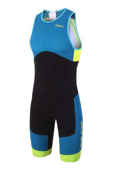 Zone3 Aeroforce sub 220 mouwloos trisuit blauw/zwart heren  TS18MASU101