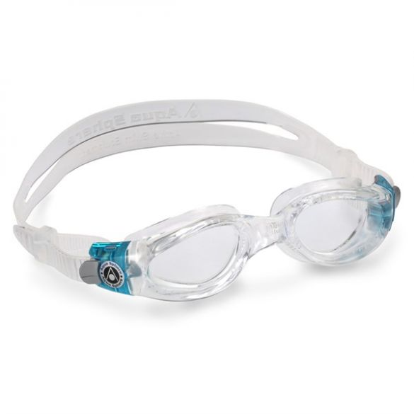 Aqua Sphere Kaiman transparante lens small fit zwembril aqua/wit  EP1190043LC