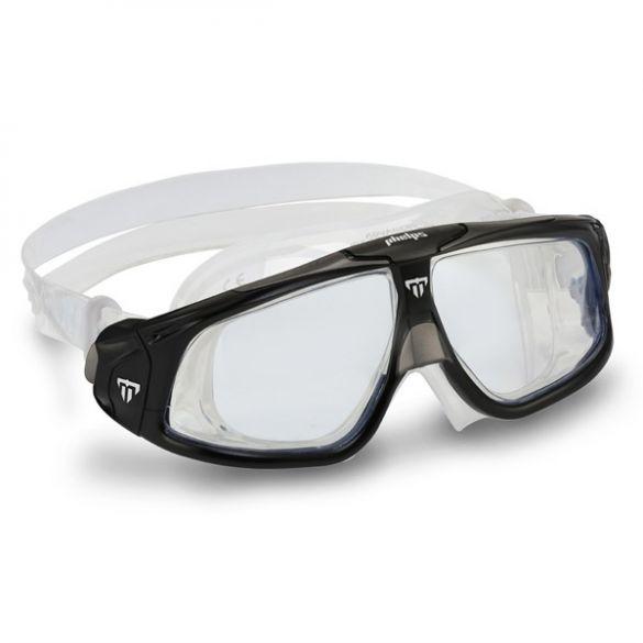 Aqua Sphere Seal 2.0 Clear Lens zwembril zwart/grijs  ASMS1590110LC