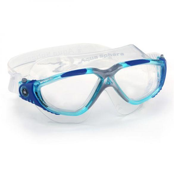 Aqua Sphere Vista transparante lens zwembril blauw  ASMS1734340LC
