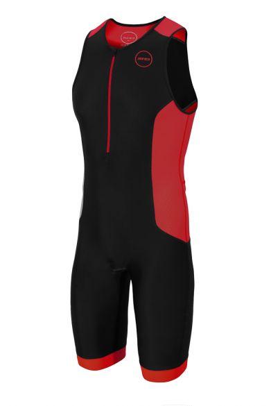 Zone3 Aquaflo plus mouwloos trisuit zwart/rood heren  TS18MAQP108