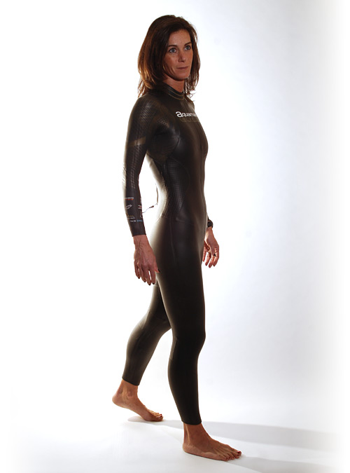 Aquaman Cell gold lange mouw wetsuit dames  AGOL19