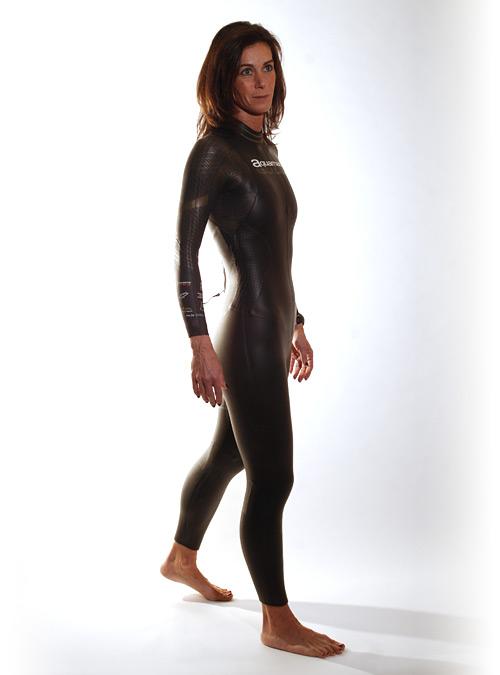 Aquaman Cell gold lange mouw wetsuit dames  AGOL19