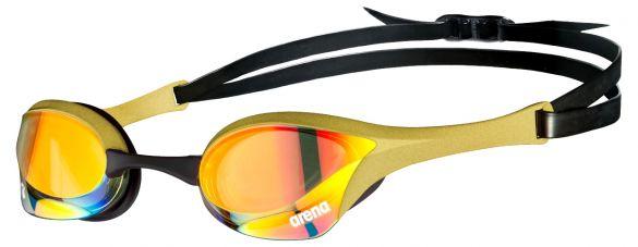 Arena Cobra ultra swipe mirror zwembril goud/zwart  AA002507-330